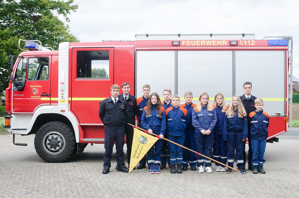 Jugendfeuerwehr Minden Haddenhausen Gruppenfoto 2017